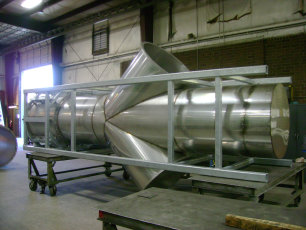 Stainless Stack with Galvanized Support